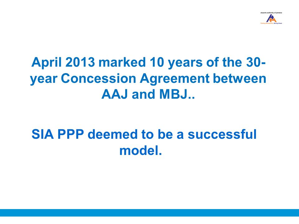 SIA PPP deemed to be a successful model.