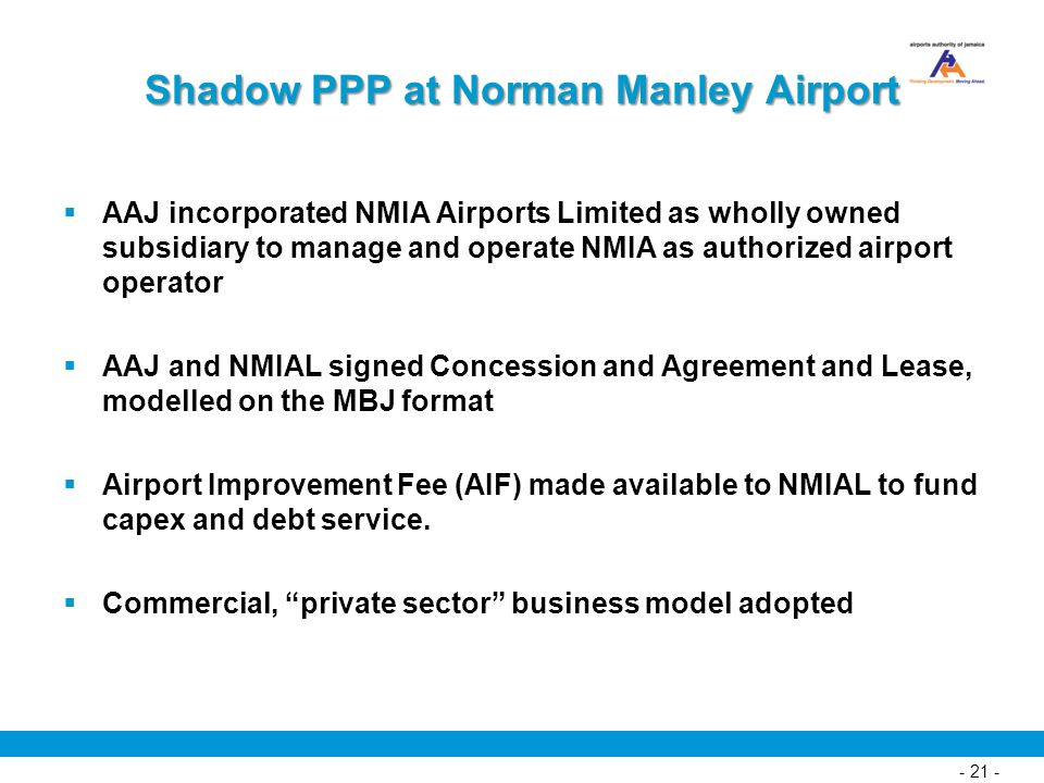 Shadow PPP at Norman Manley Airport