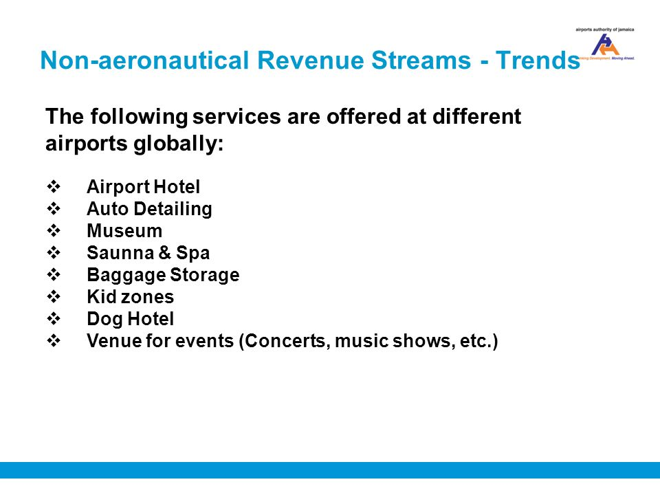 Non-aeronautical Revenue Streams - Trends