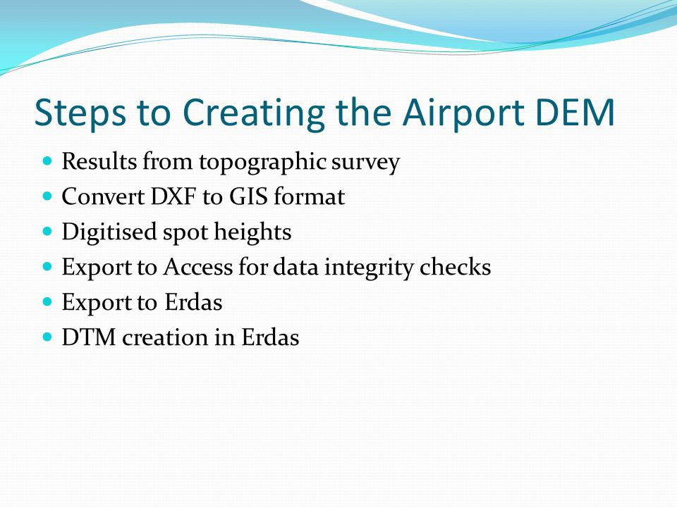Steps to Creating the Airport DEM