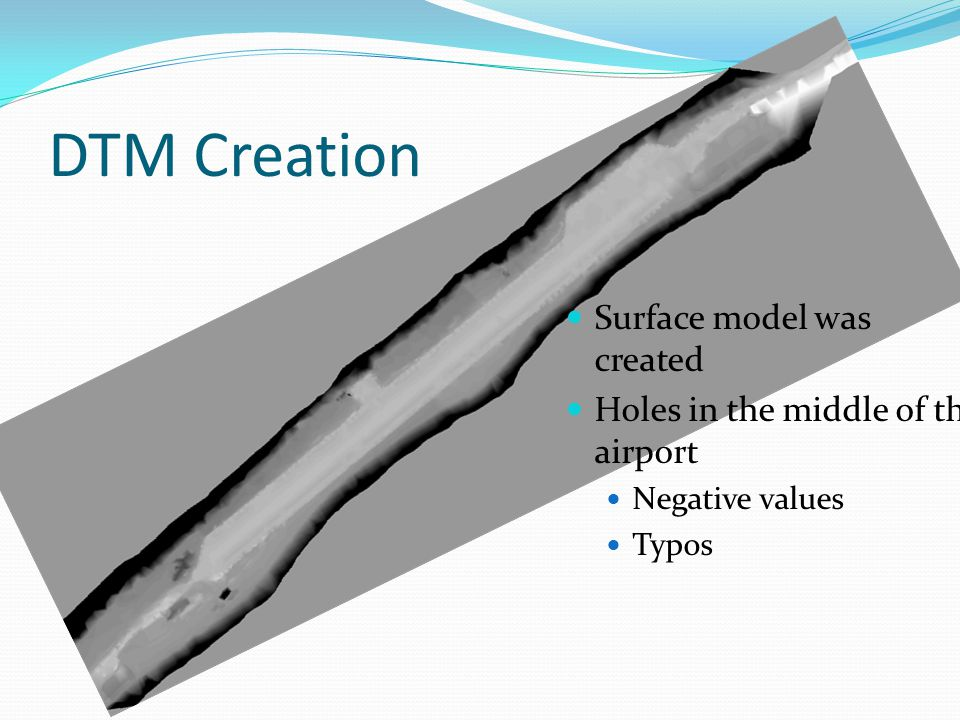 DTM Creation Surface model was created