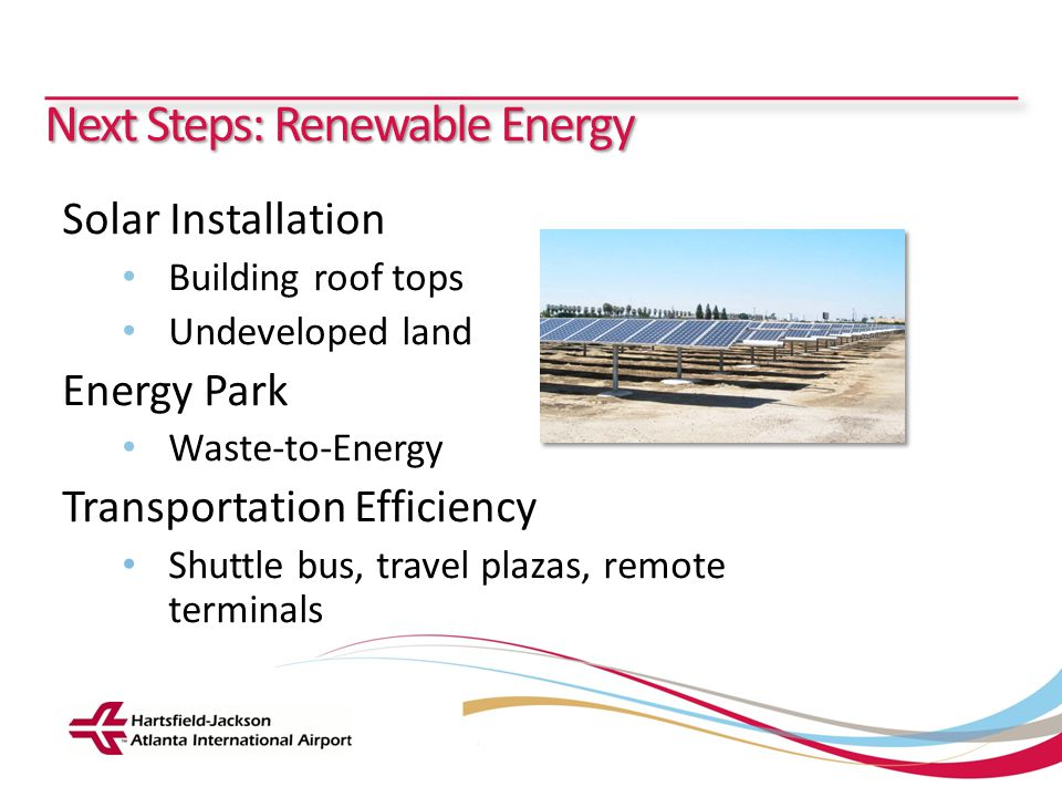 Next Steps: Renewable Energy