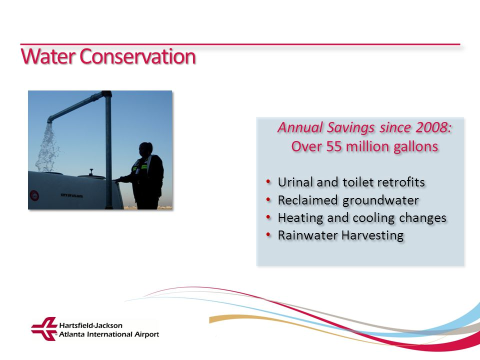 Water Conservation Annual Savings since 2008: Over 55 million gallons