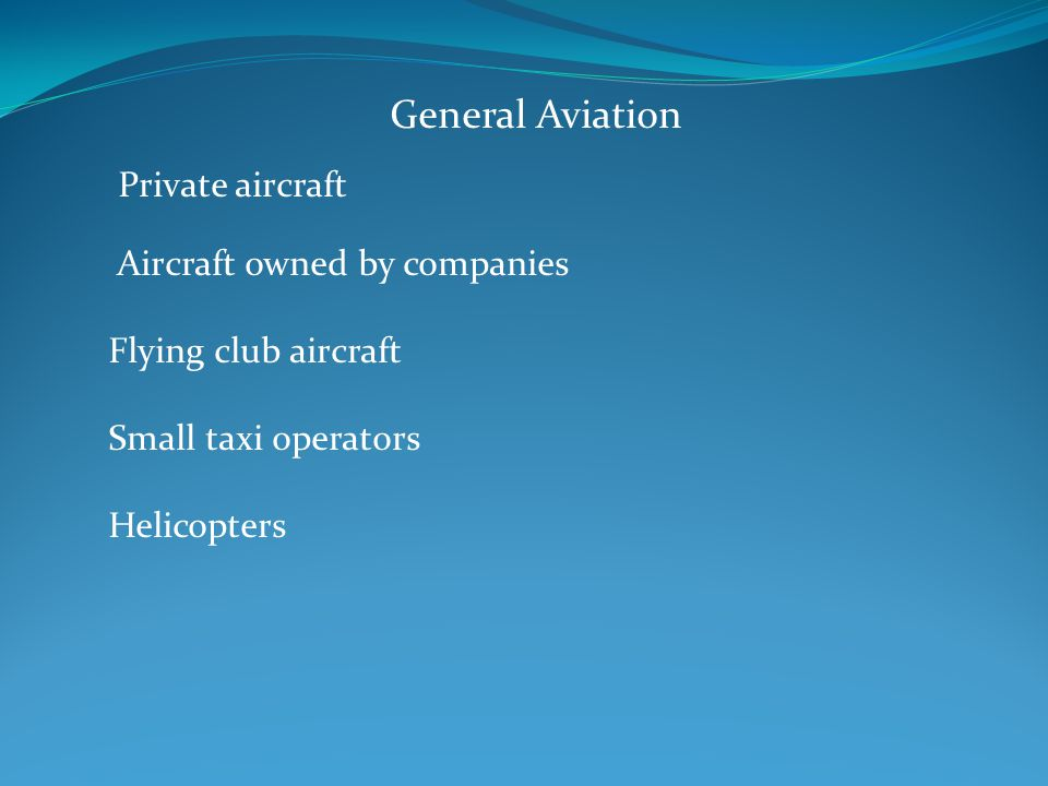 Aircraft owned by companies