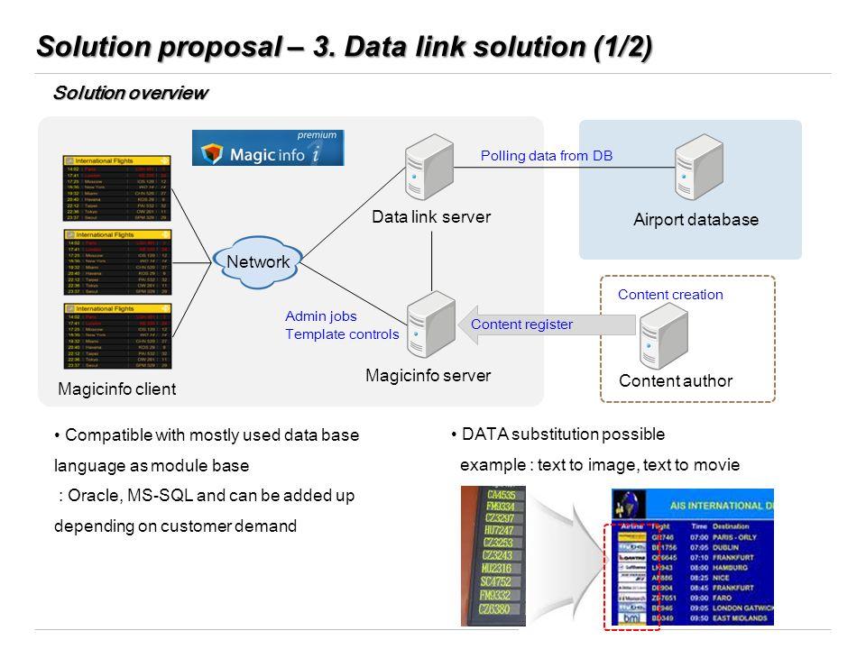 Solution proposal – 3. Data link solution (1/2)