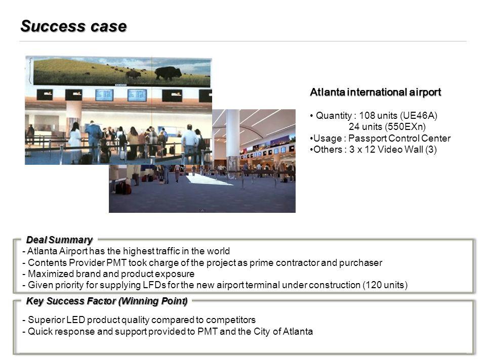 Success case Atlanta international airport