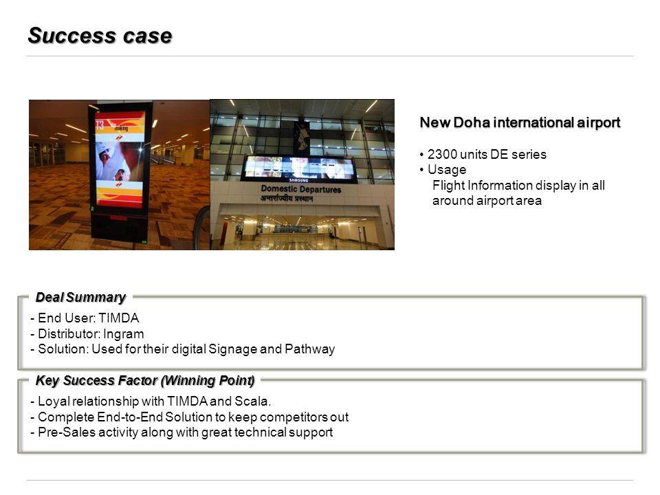 Success case New Doha international airport 2300 units DE series Usage