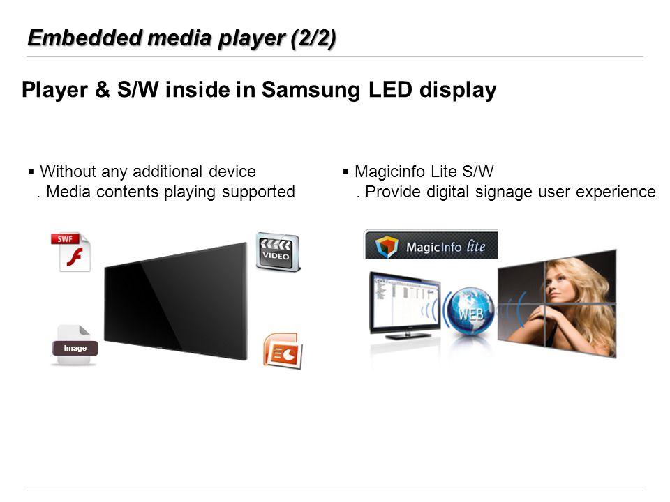 Embedded media player (2/2)