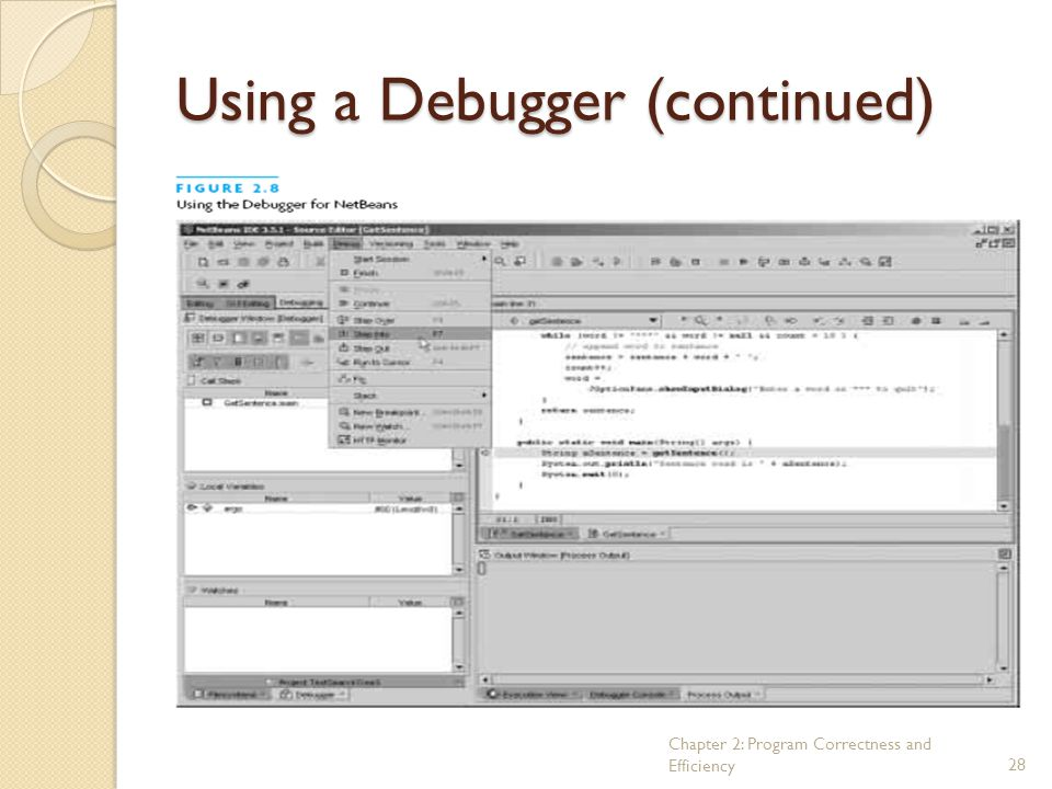 Using a Debugger (continued)