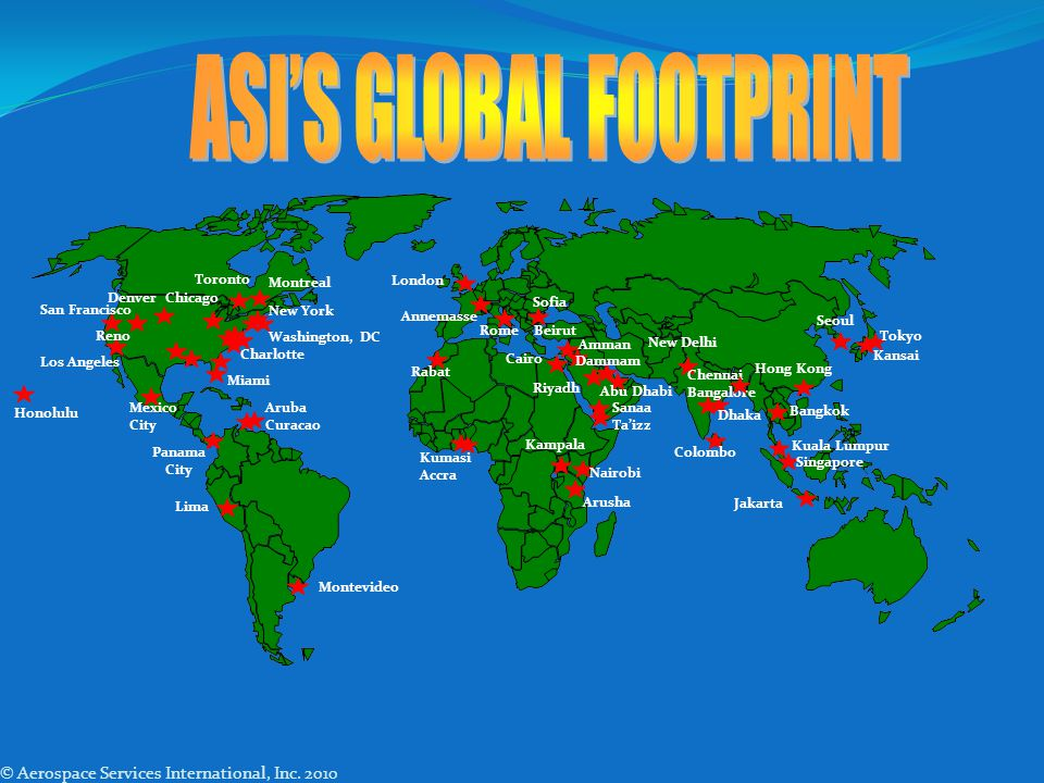 ASI'S GLOBAL FOOTPRINT