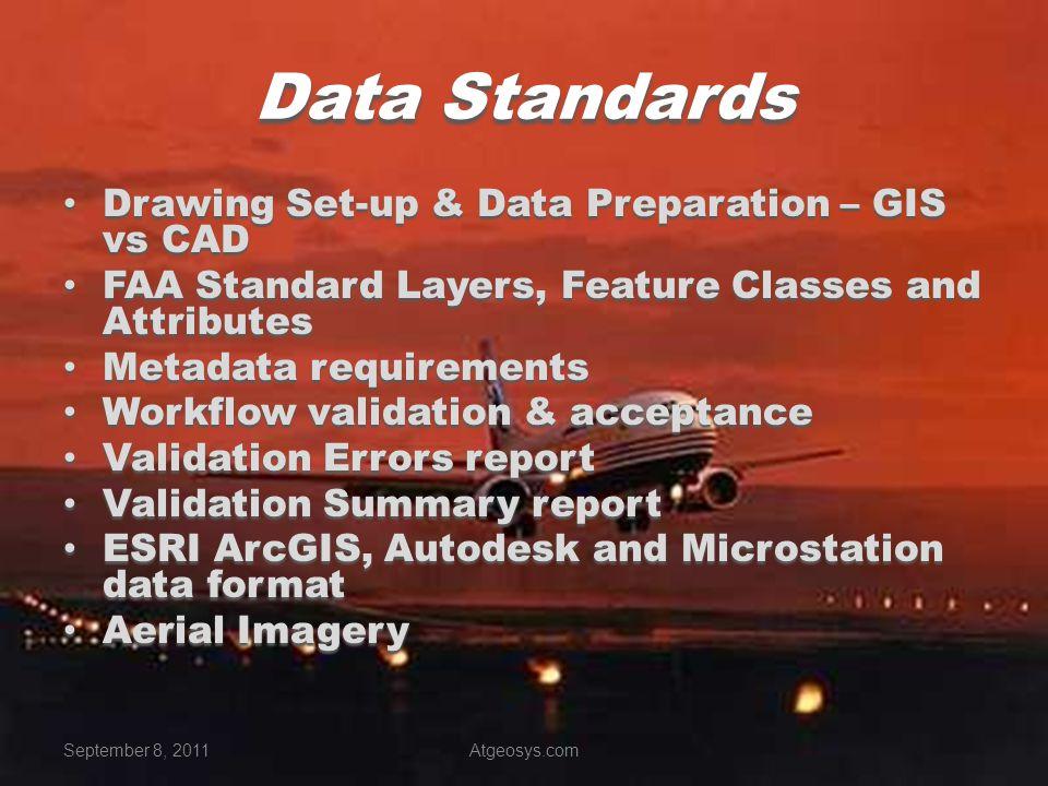 Data Standards Drawing Set-up & Data Preparation – GIS vs CAD