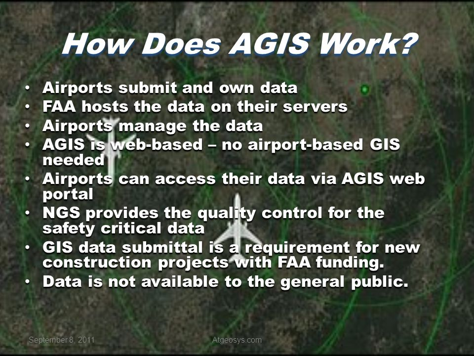 How Does AGIS Work Airports submit and own data