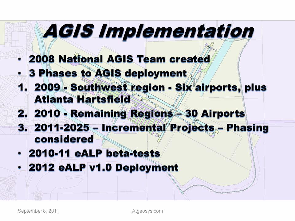 AGIS Implementation 2008 National AGIS Team created