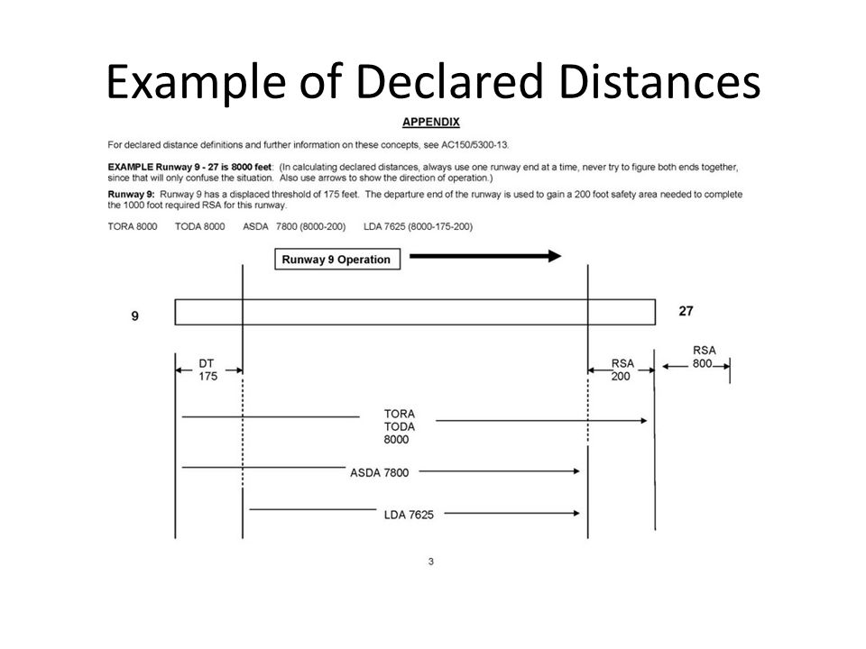 Example of Declared Distances
