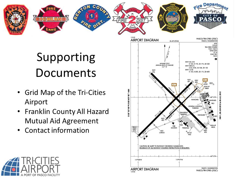 Supporting Documents Grid Map of the Tri-Cities Airport