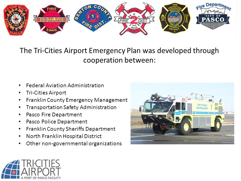 The Tri-Cities Airport Emergency Plan was developed through cooperation between: