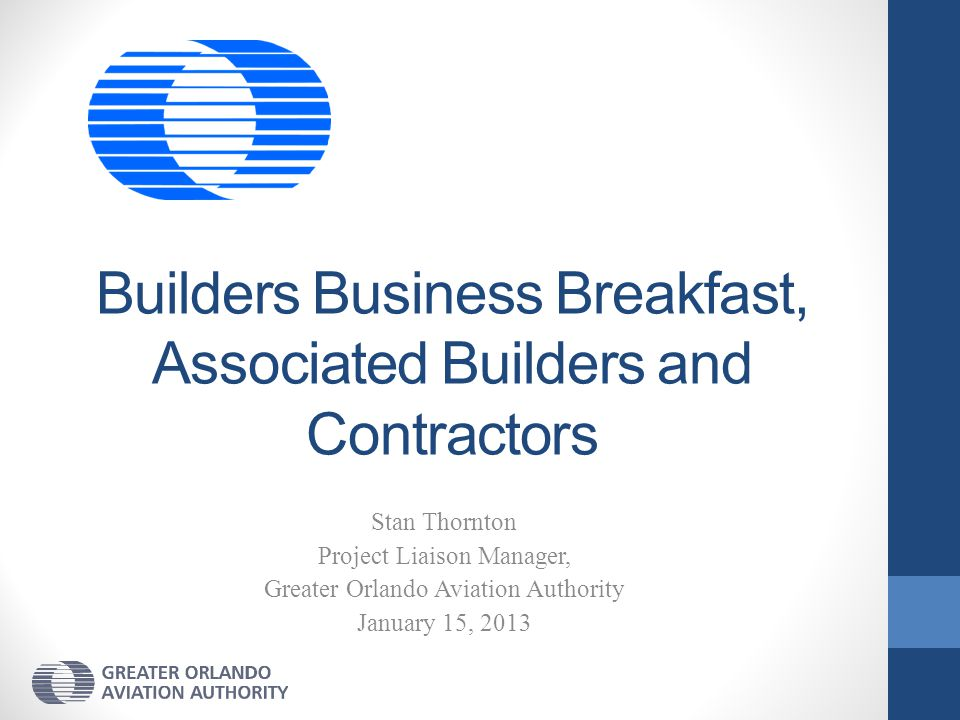 Builders Business Breakfast, Associated Builders and Contractors
