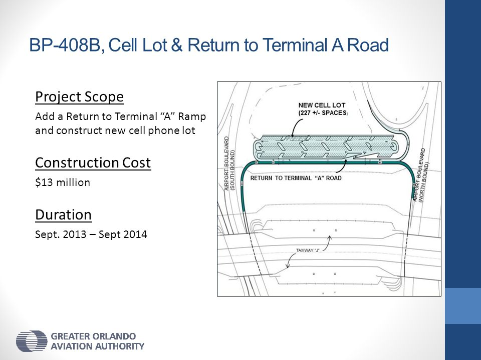 BP-408B, Cell Lot & Return to Terminal A Road