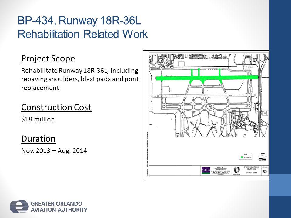 BP-434, Runway 18R-36L Rehabilitation Related Work