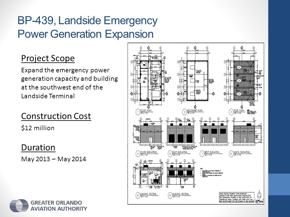 BP-439, Landside Emergency Power Generation Expansion