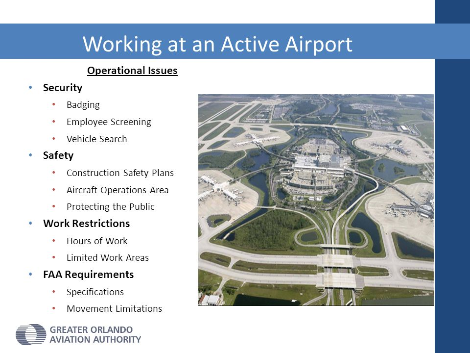 Working at an Active Airport