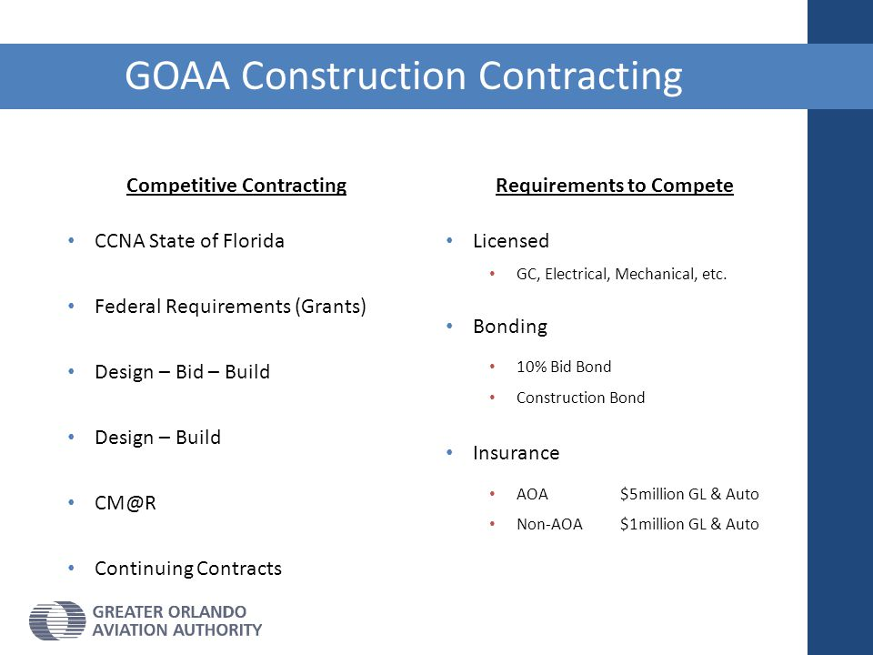 GOAA Construction Contracting