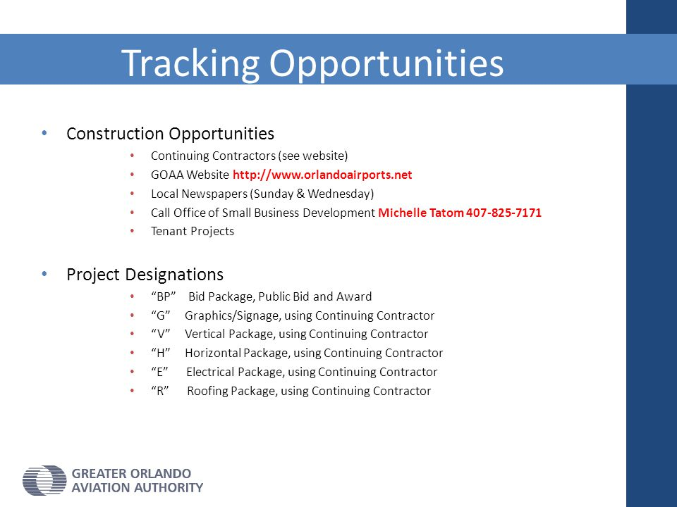 Tracking Opportunities