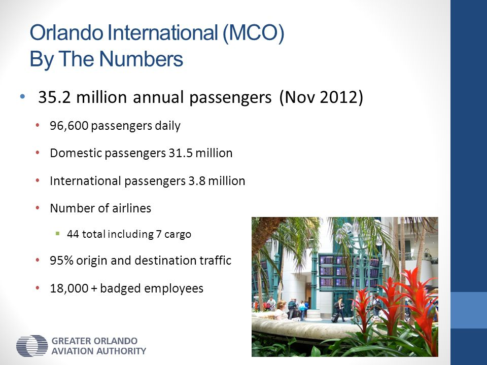 Orlando International (MCO) By The Numbers