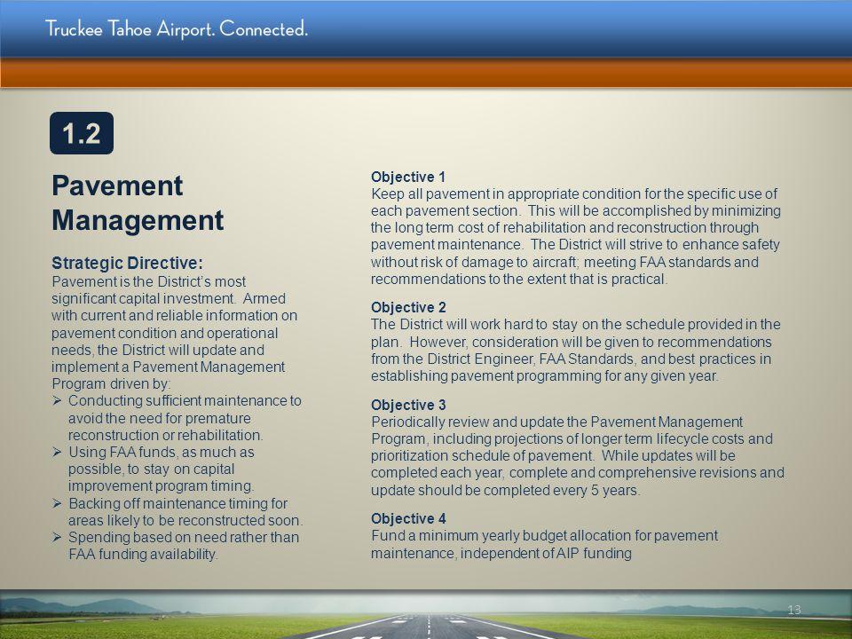 1.2 Pavement Management.