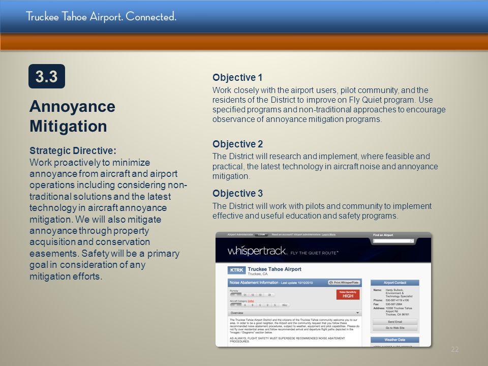 3.3 Annoyance Mitigation Objective 1 Objective 2 Objective 3