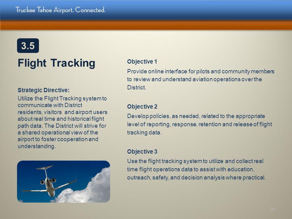 3.5 Flight Tracking.