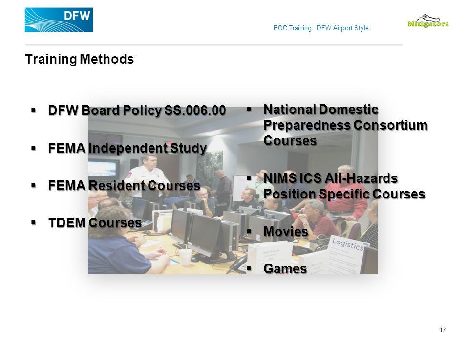 FEMA Independent Study FEMA Resident Courses TDEM Courses