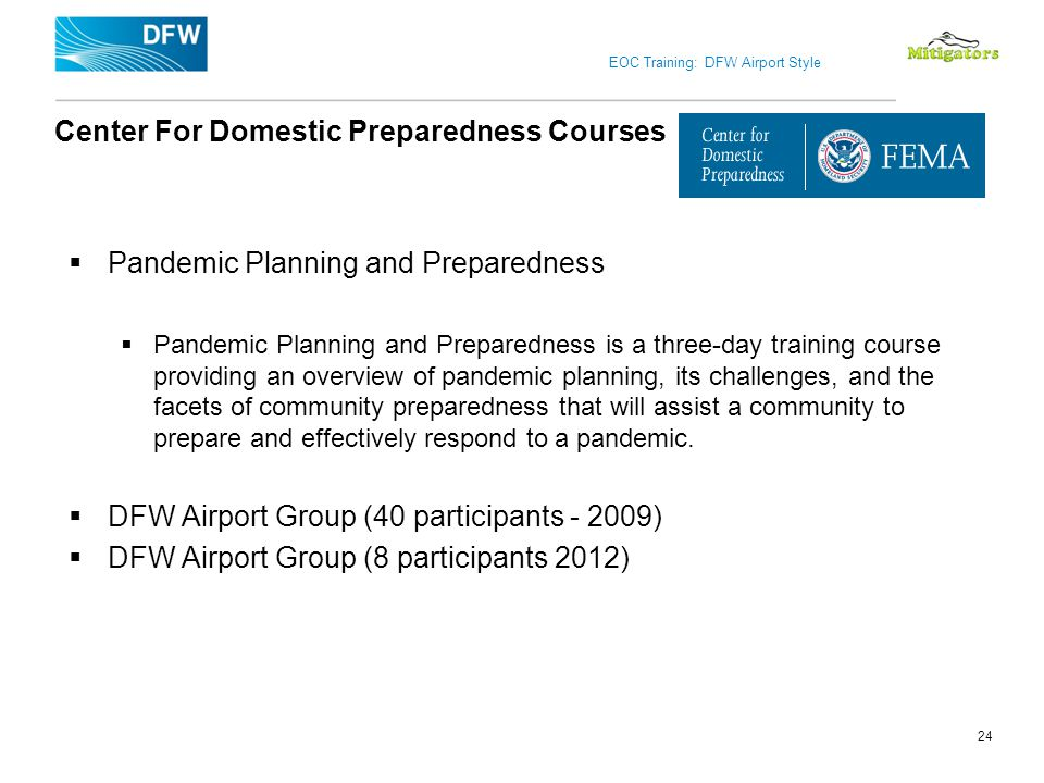 Center For Domestic Preparedness Courses