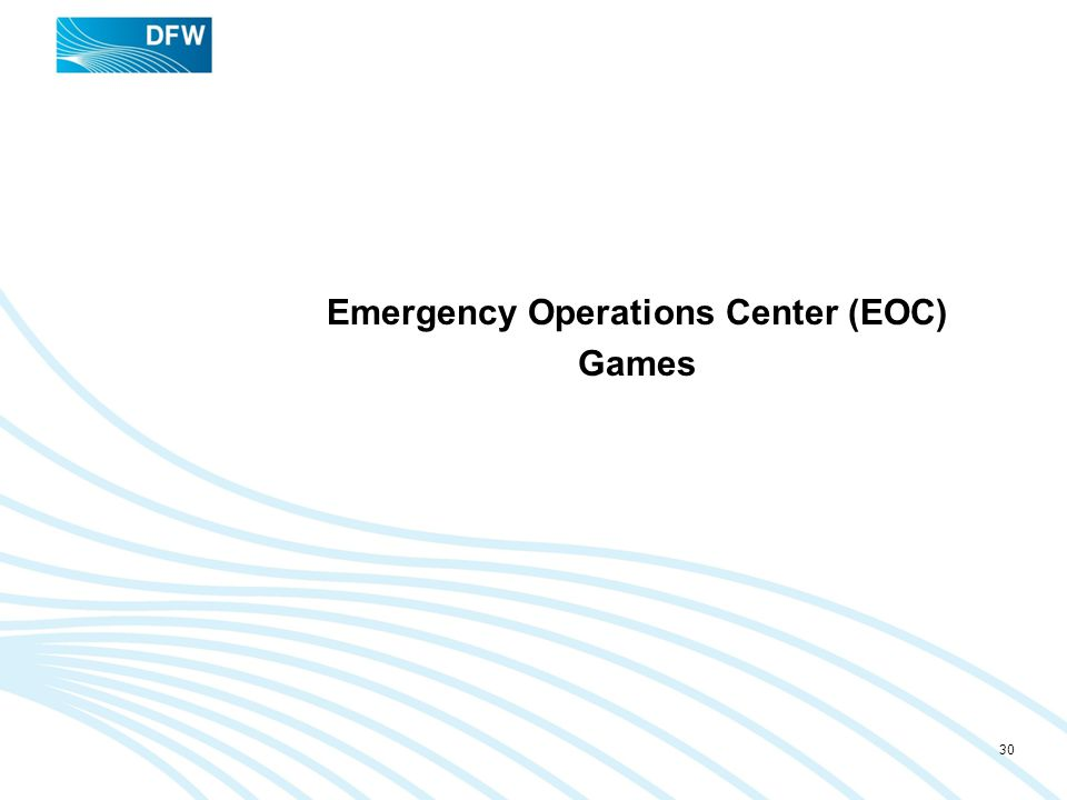 Emergency Operations Center (EOC) Games