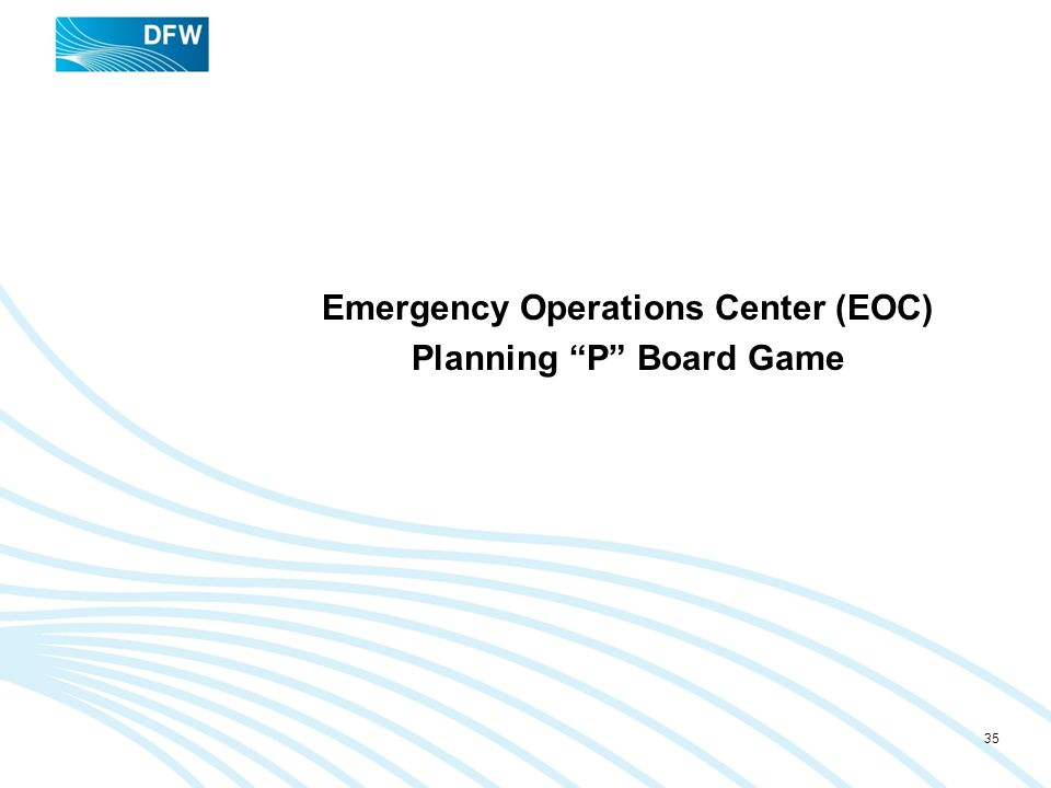 Emergency Operations Center (EOC) Planning P Board Game
