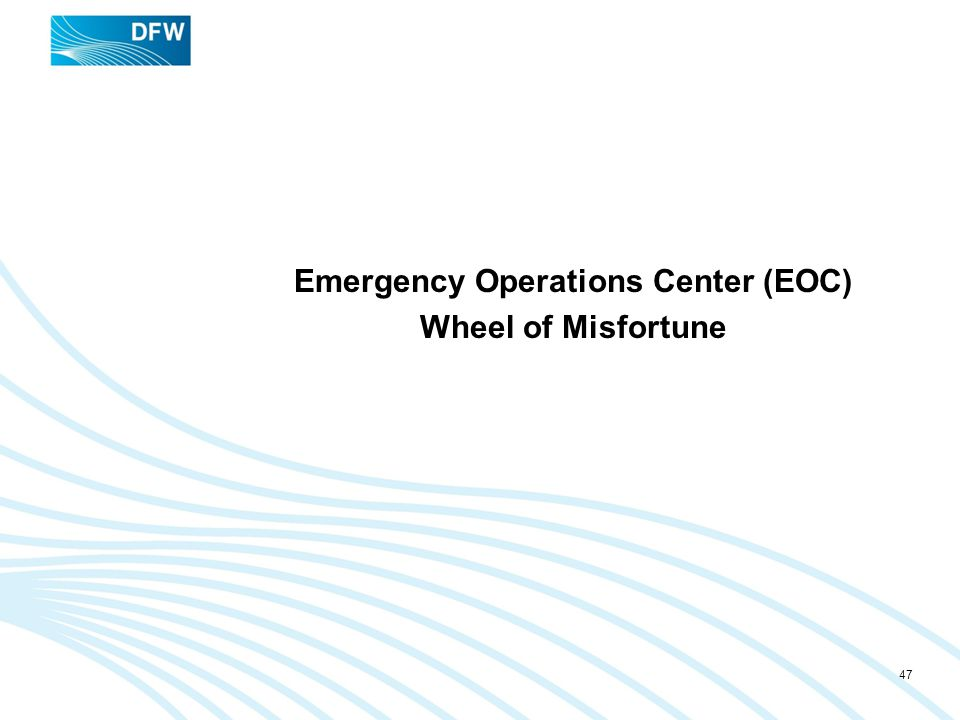 Emergency Operations Center (EOC) Wheel of Misfortune
