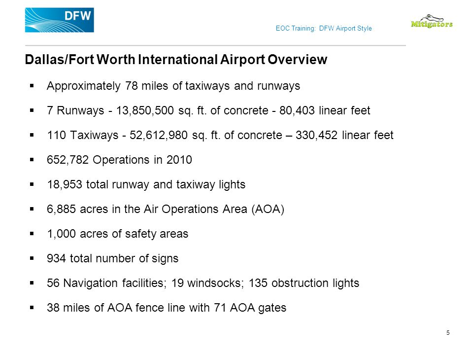 Dallas/Fort Worth International Airport Overview