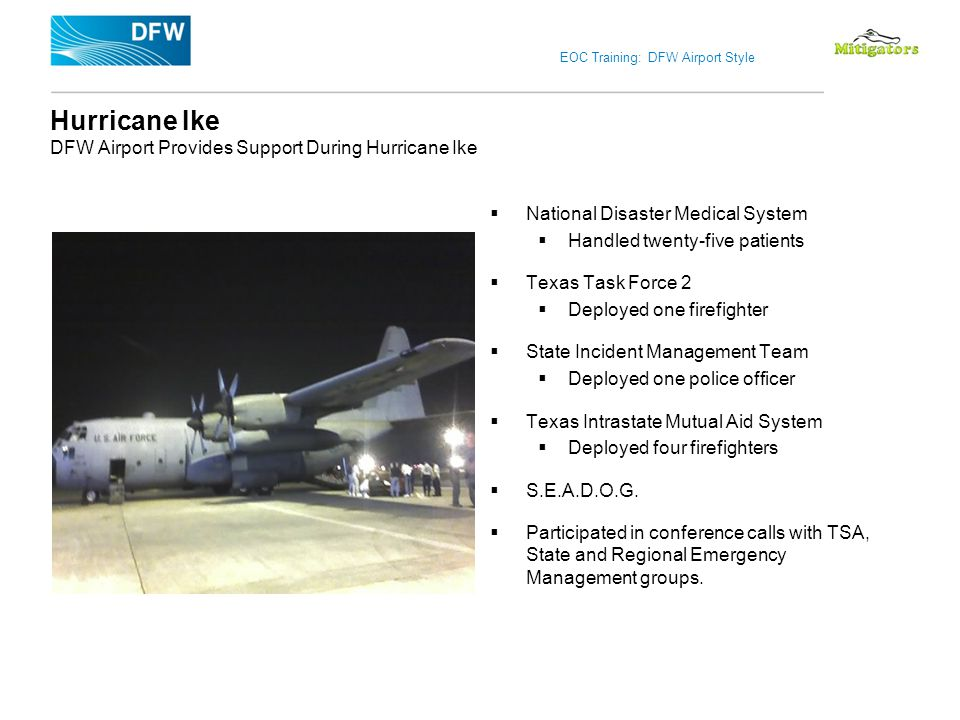 Hurricane Ike DFW Airport Provides Support During Hurricane Ike