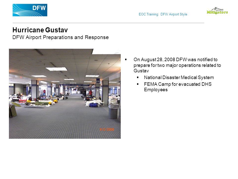 Hurricane Gustav DFW Airport Preparations and Response