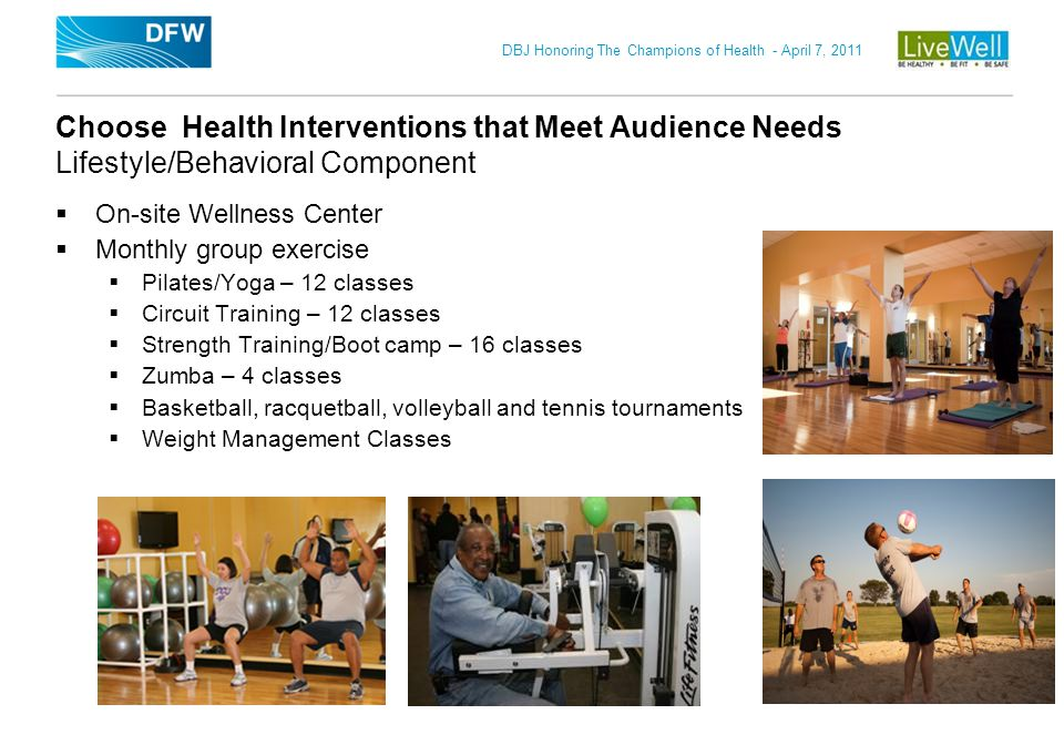 Choose Health Interventions that Meet Audience Needs Lifestyle/Behavioral Component
