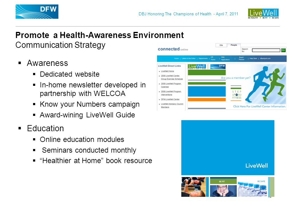 Promote a Health-Awareness Environment Communication Strategy