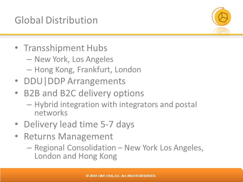 Global Distribution Transshipment Hubs DDU|DDP Arrangements