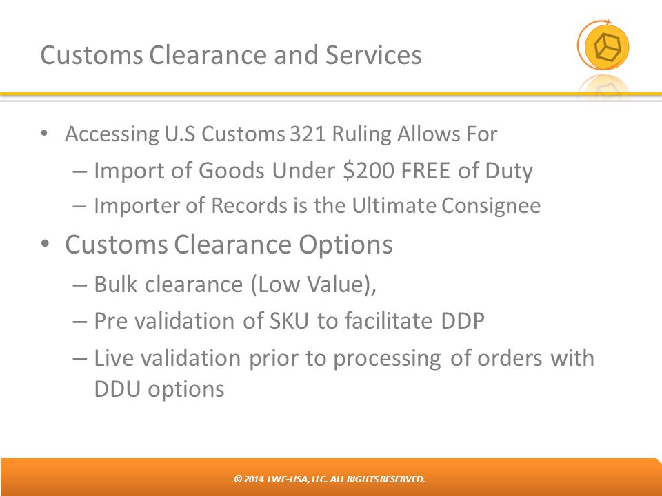 Customs Clearance and Services