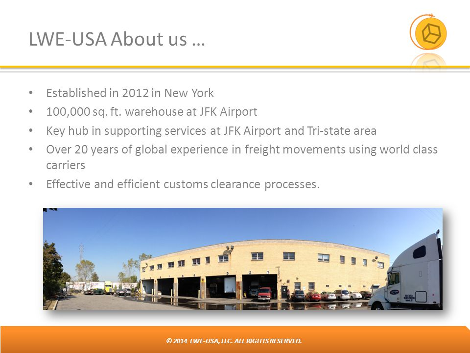 LWE-USA About us … Established in 2012 in New York