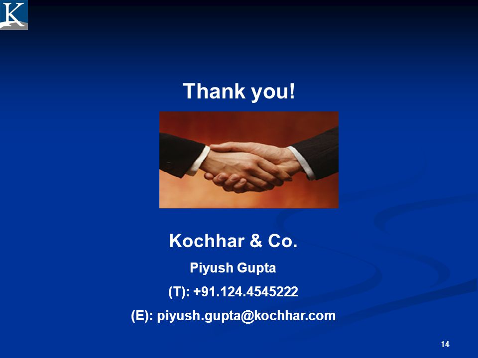 (E): piyush.gupta@kochhar.com