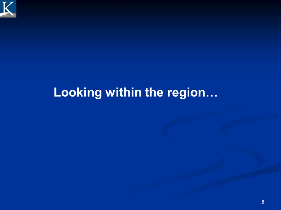 Looking within the region…