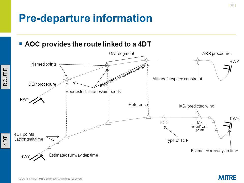 Pre-departure information