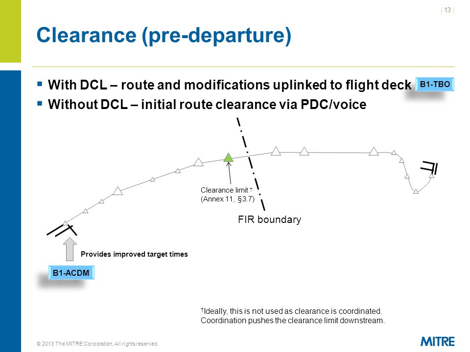 Clearance (pre-departure)