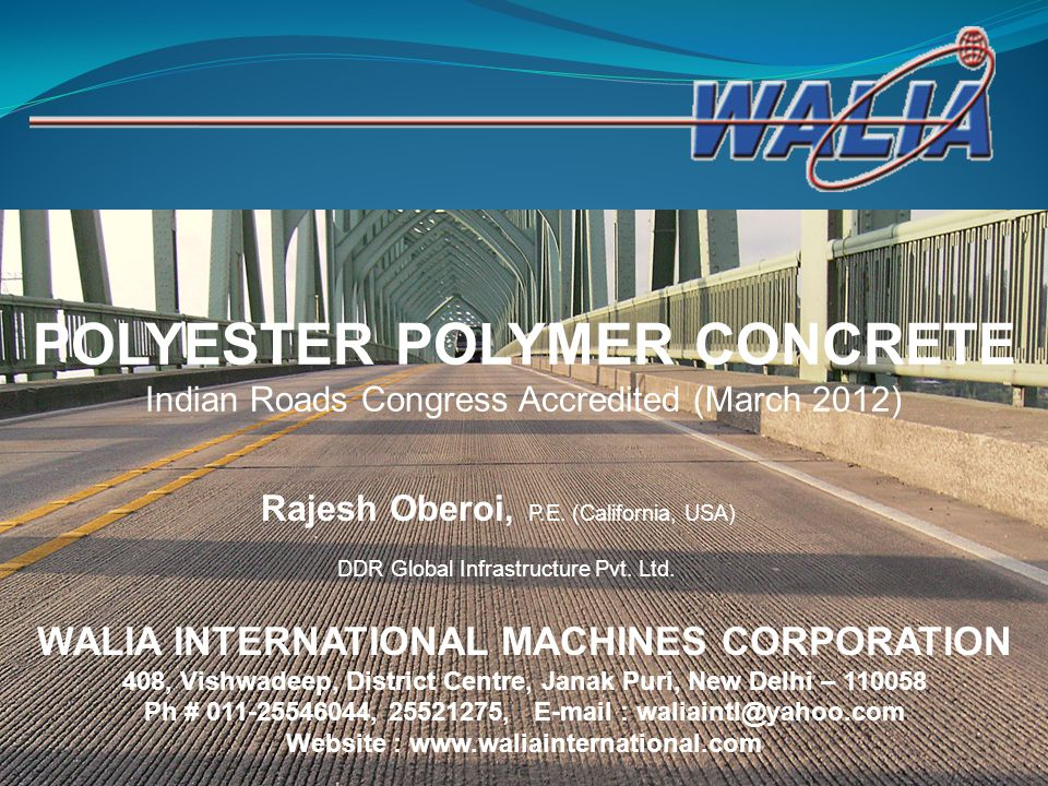 POLYESTER POLYMER CONCRETE