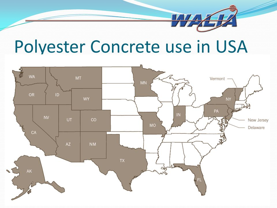 Polyester Concrete use in USA